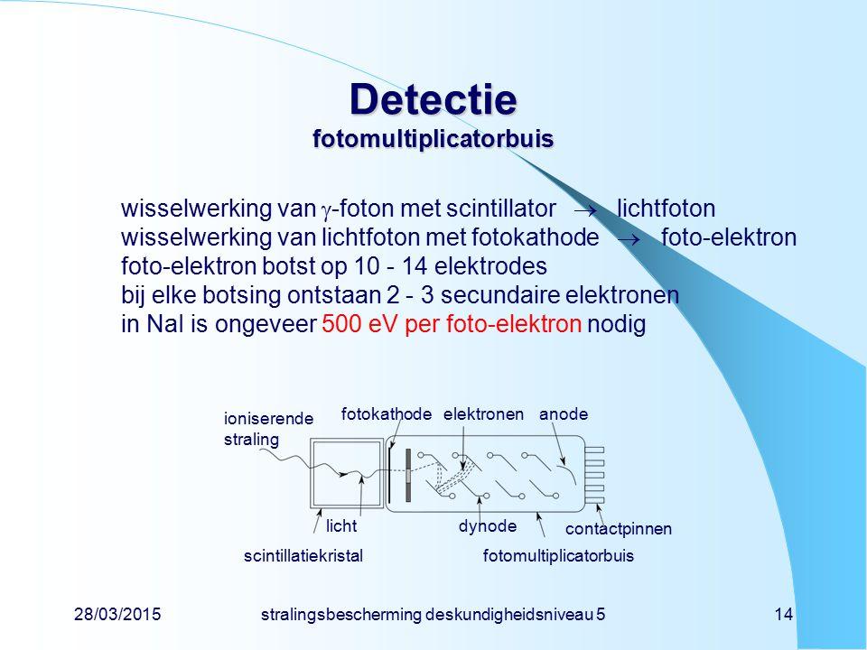 Detectie fotomultiplicatorbuis