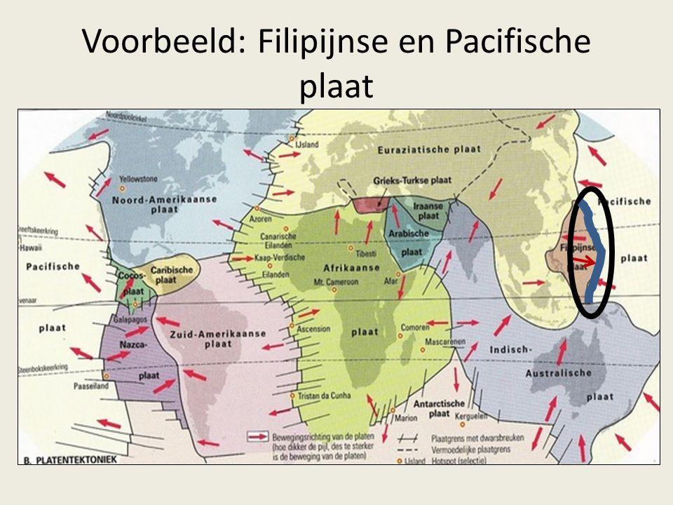 Voorbeeld: Filipijnse en Pacifische plaat