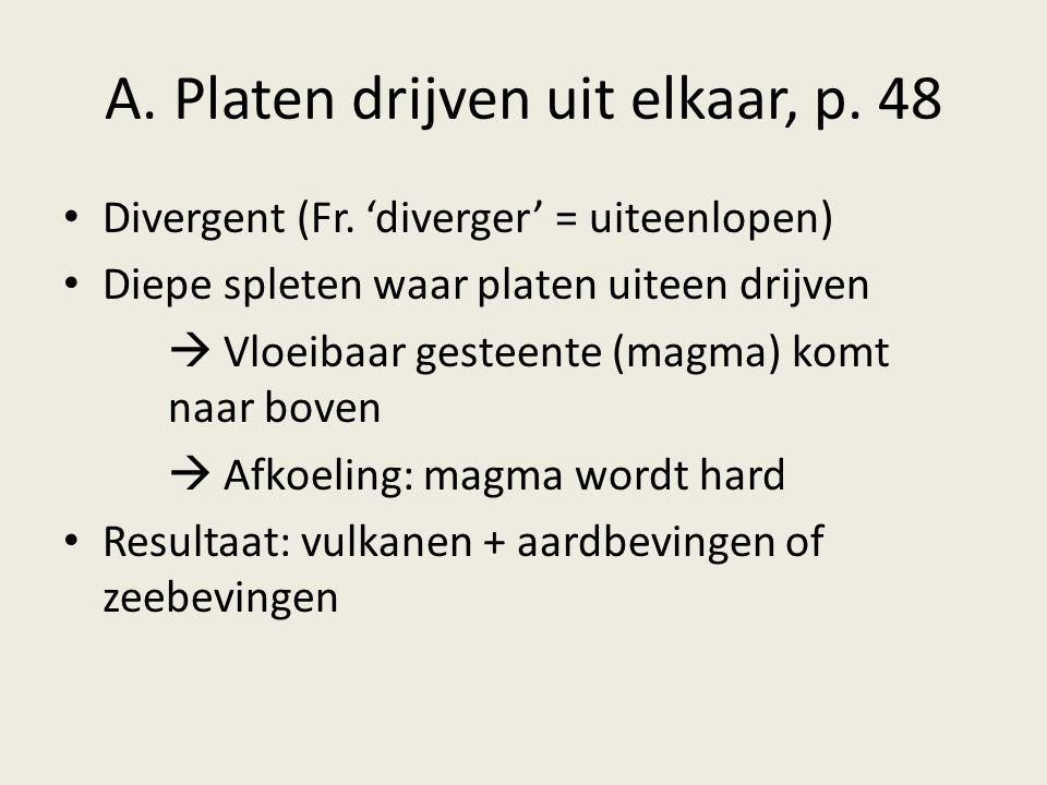 A. Platen drijven uit elkaar, p. 48
