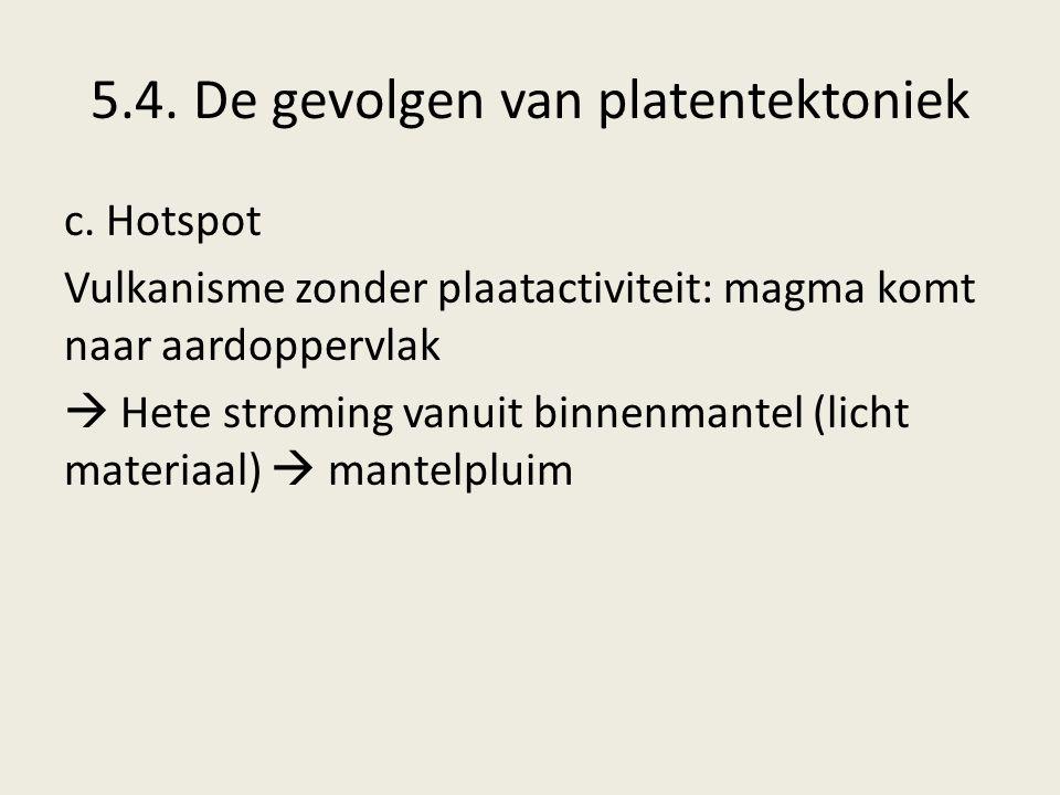 5.4. De gevolgen van platentektoniek
