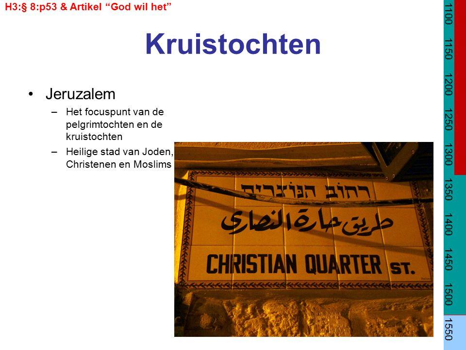 Kruistochten Jeruzalem H3:§ 8:p53 & Artikel God wil het 1100 1150