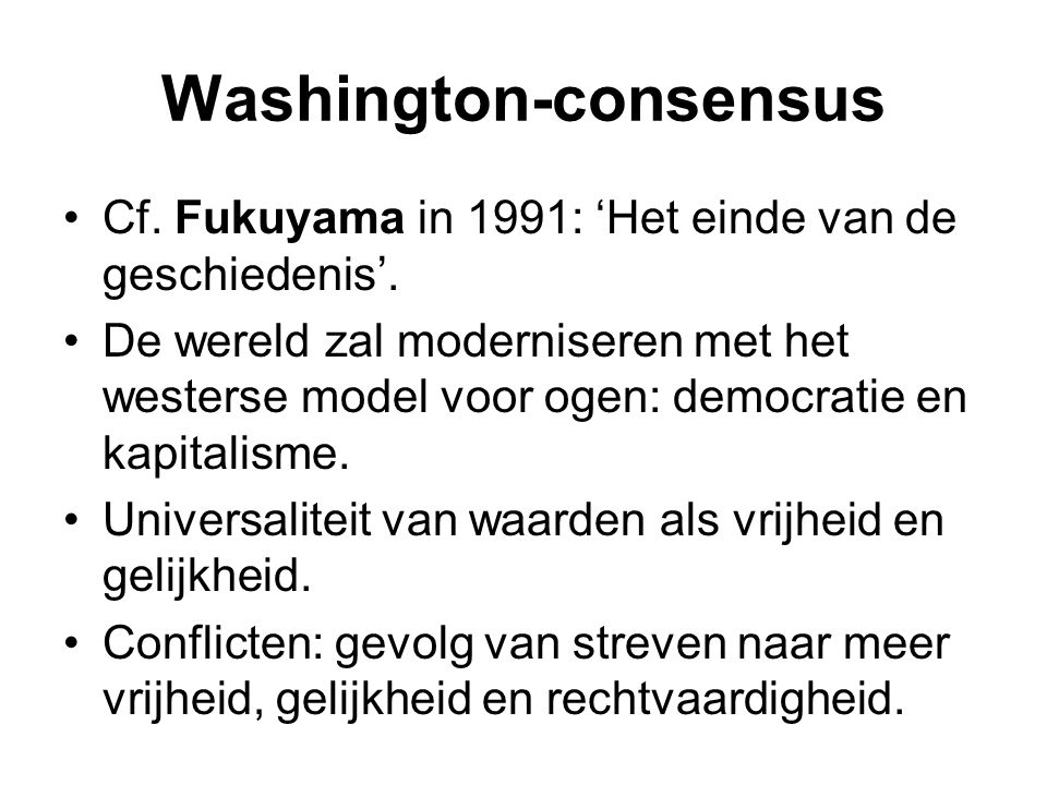 Washington-consensus