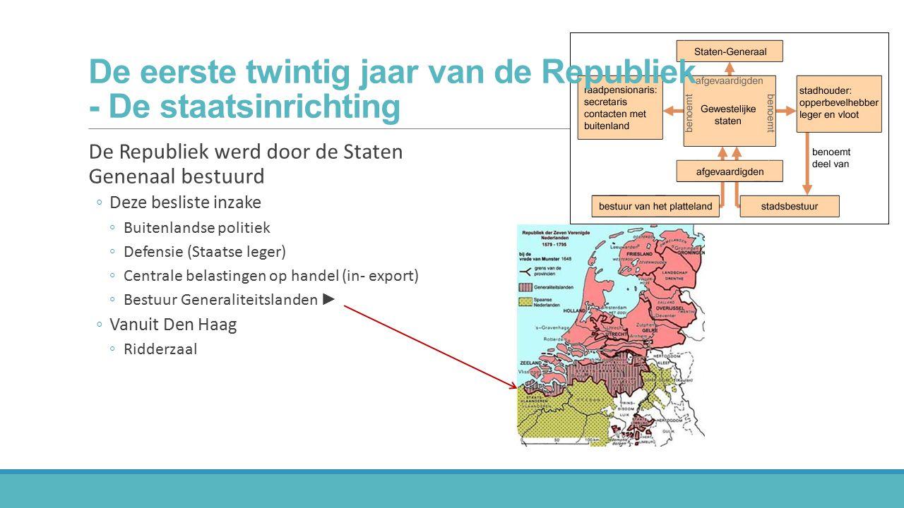 De eerste twintig jaar van de Republiek - De staatsinrichting