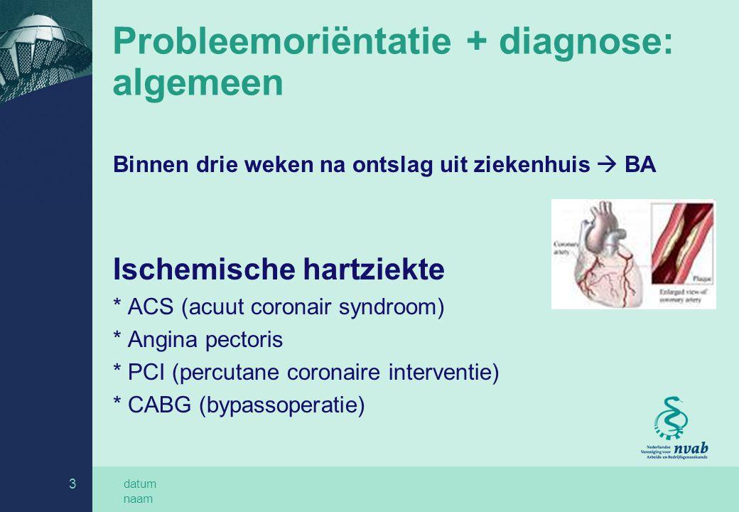 Probleemoriëntatie + diagnose: algemeen