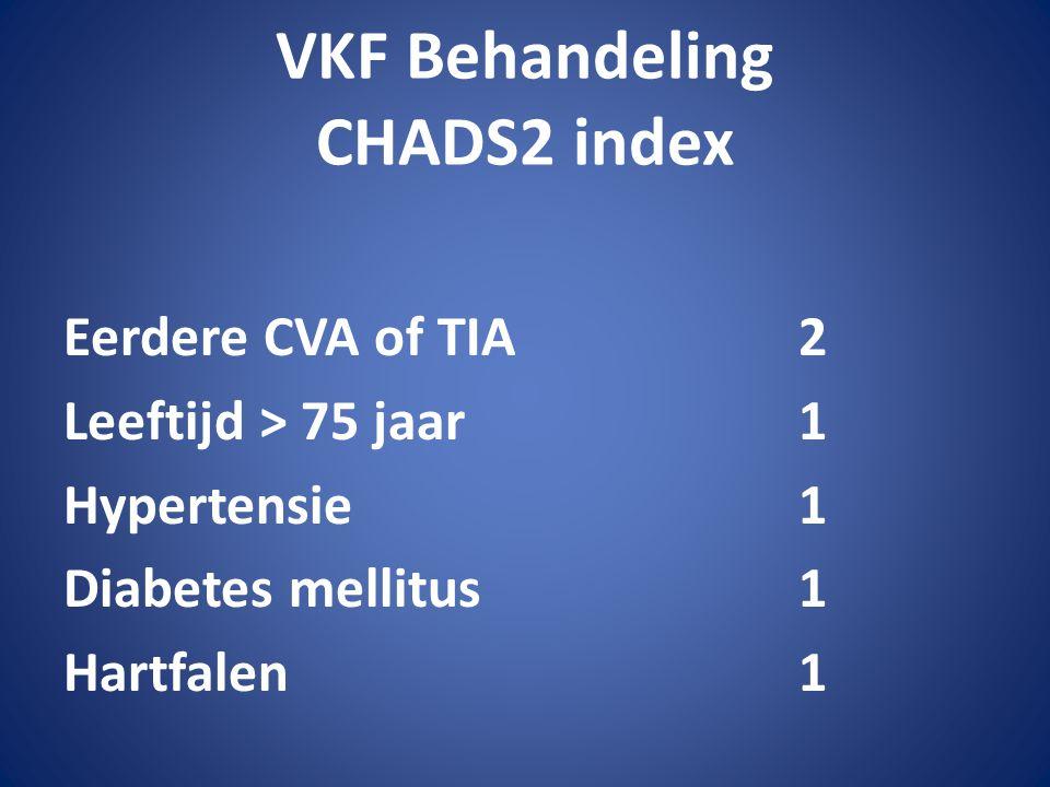 VKF Behandeling CHADS2 index