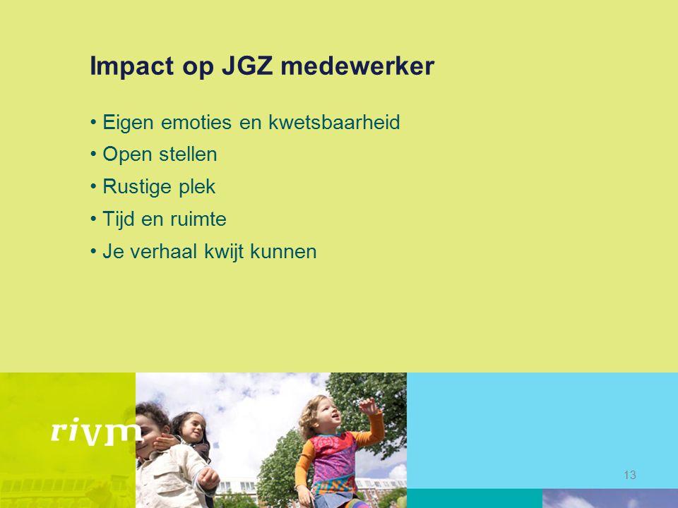Impact op JGZ medewerker