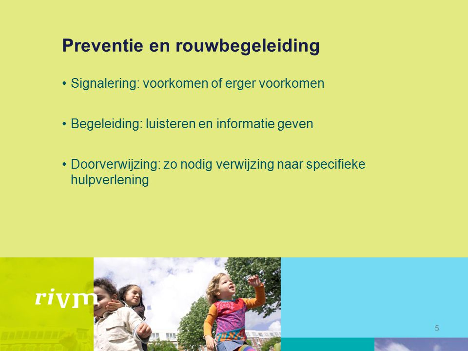 Preventie en rouwbegeleiding