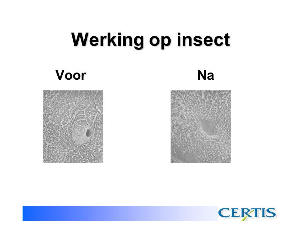 Werking op insect Voor Na