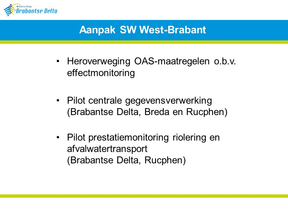 Aanpak SW West-Brabant
