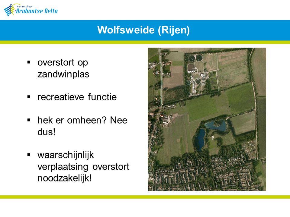 Wolfsweide (Rijen) overstort op zandwinplas recreatieve functie