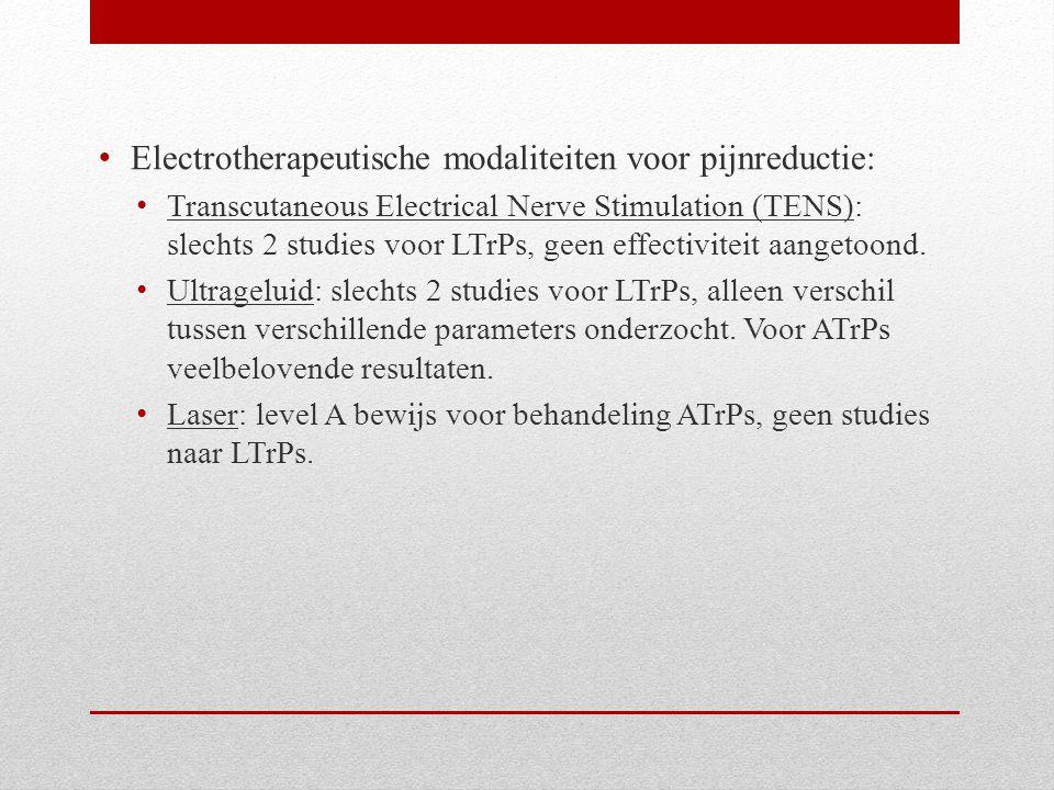 Electrotherapeutische modaliteiten voor pijnreductie: