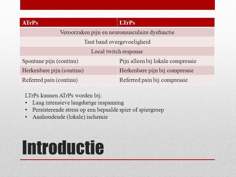 Introductie ATrPs LTrPs Veroorzaken pijn en neuromusculaire dysfunctie