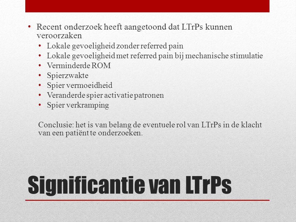 Significantie van LTrPs