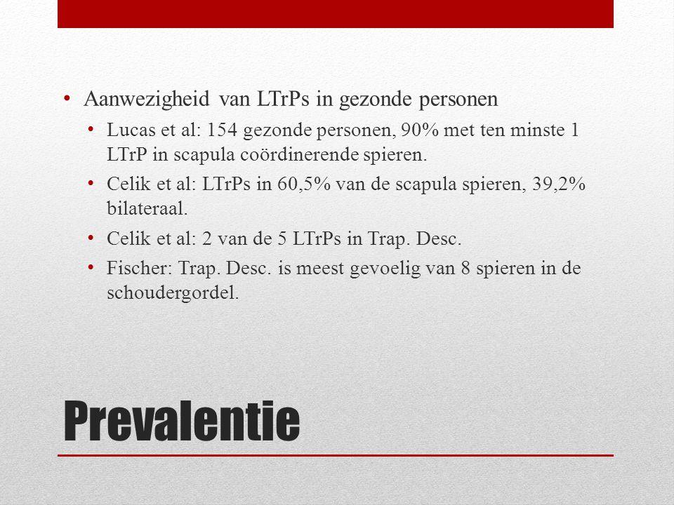Prevalentie Aanwezigheid van LTrPs in gezonde personen