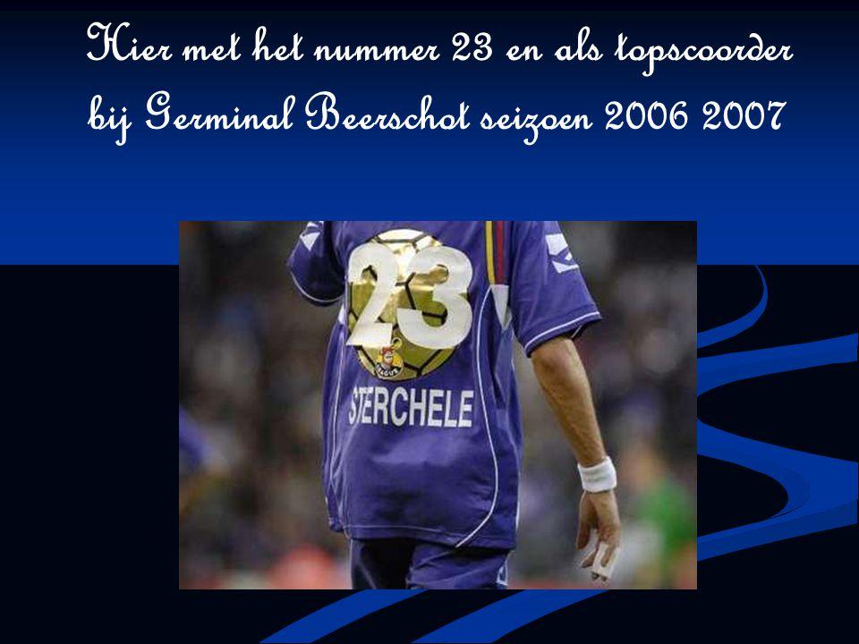 Hier met het nummer 23 en als topscoorder bij Germinal Beerschot seizoen 2006 2007
