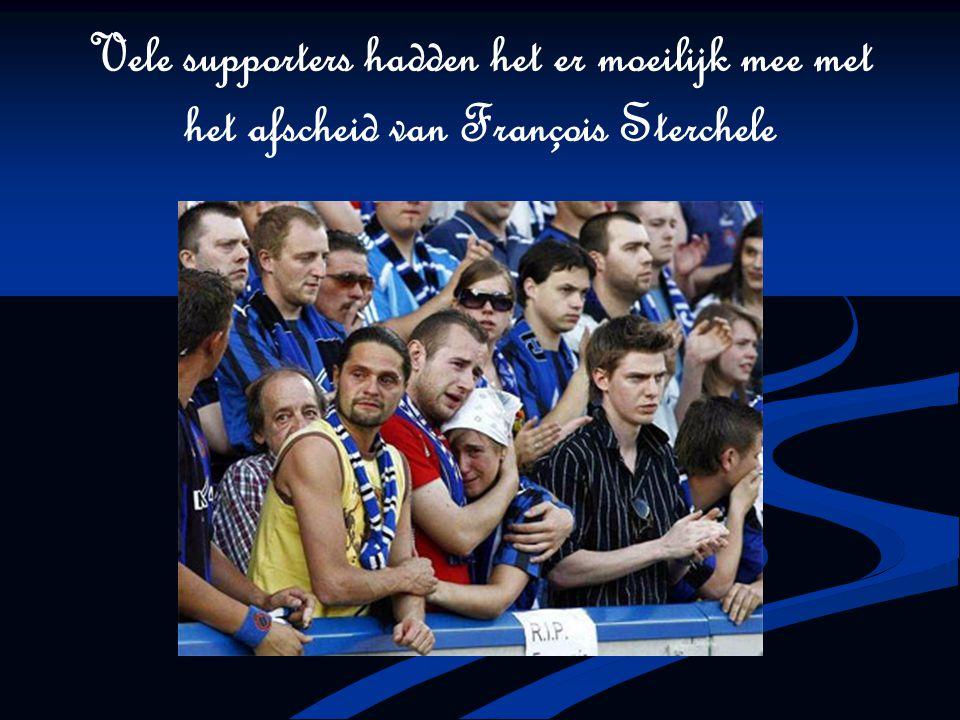 Vele supporters hadden het er moeilijk mee met het afscheid van François Sterchele