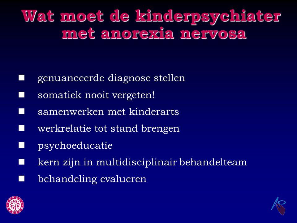 Wat moet de kinderpsychiater met anorexia nervosa
