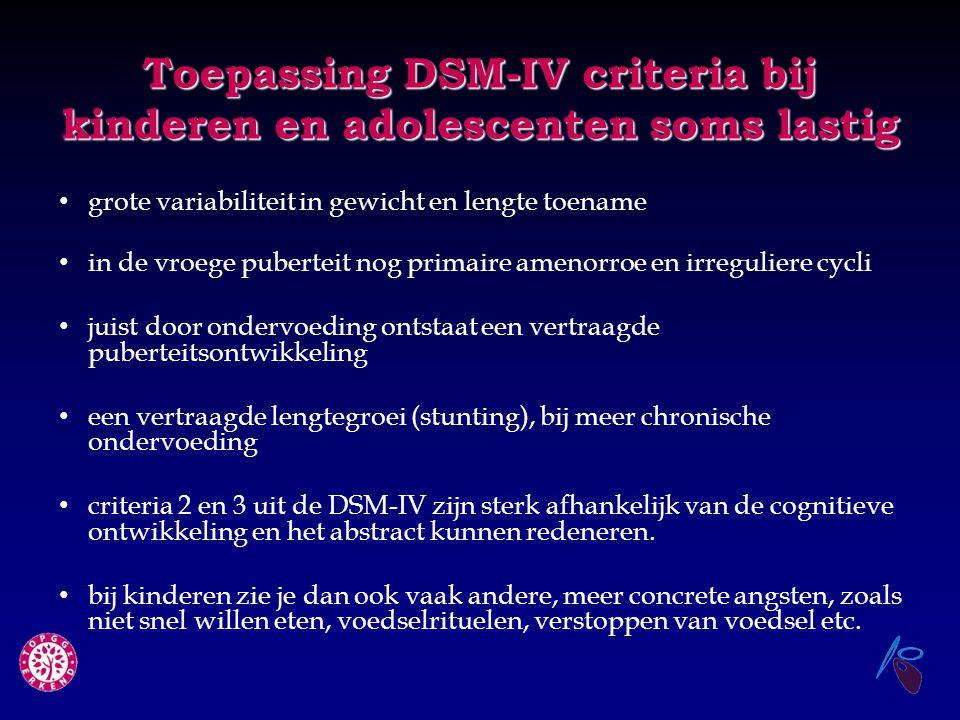 Toepassing DSM-IV criteria bij kinderen en adolescenten soms lastig