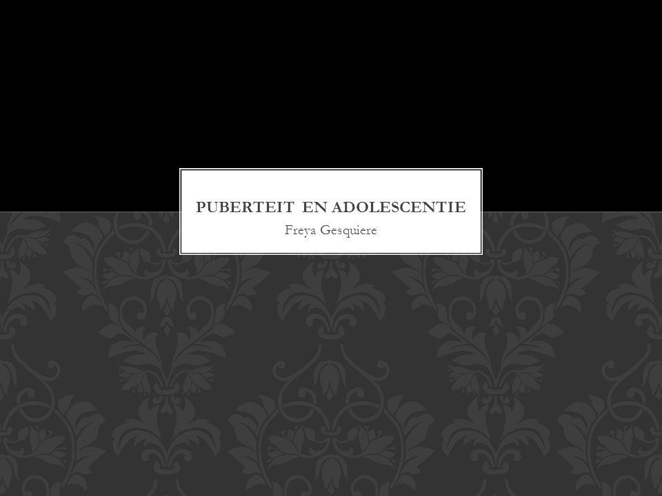 Puberteit en adolescentie
