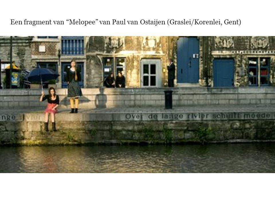 Een fragment van Melopee van Paul van Ostaijen (Graslei/Korenlei, Gent)