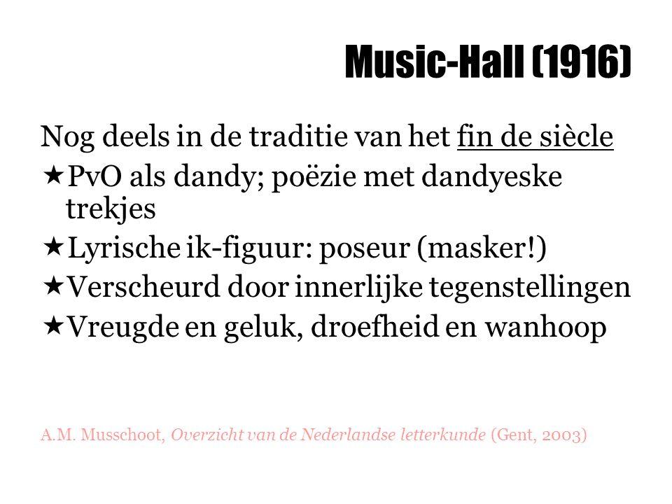 Music-Hall (1916) Nog deels in de traditie van het fin de siècle