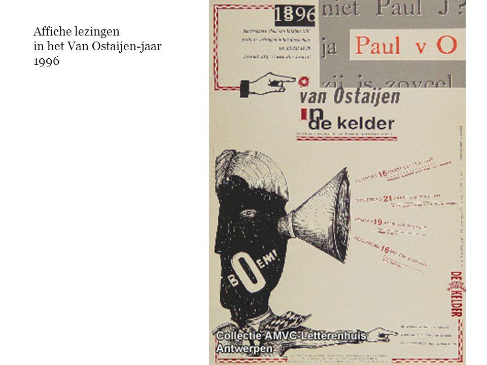 Affiche lezingen in het Van Ostaijen-jaar 1996