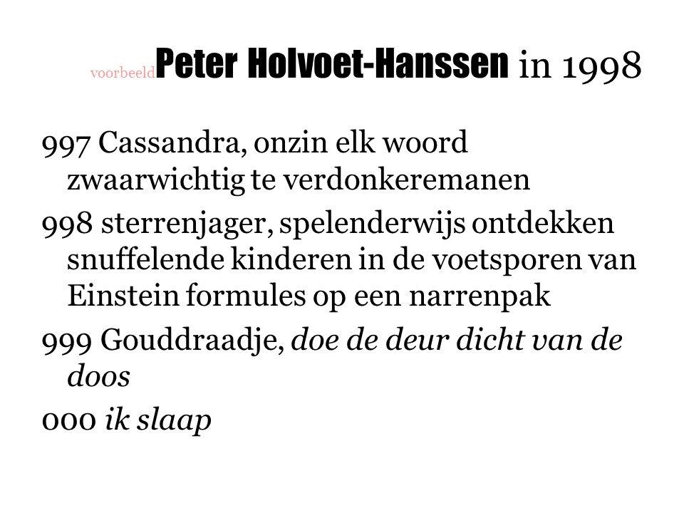 voorbeeldPeter Holvoet-Hanssen in 1998