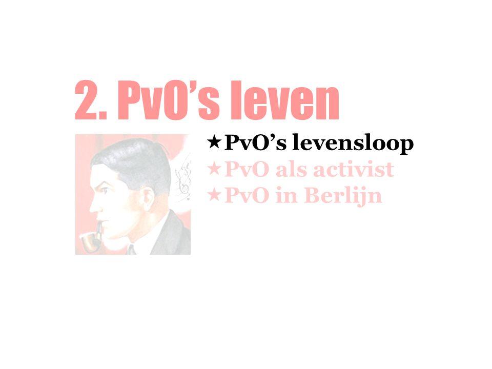 2. PvO's leven PvO's levensloop PvO als activist PvO in Berlijn