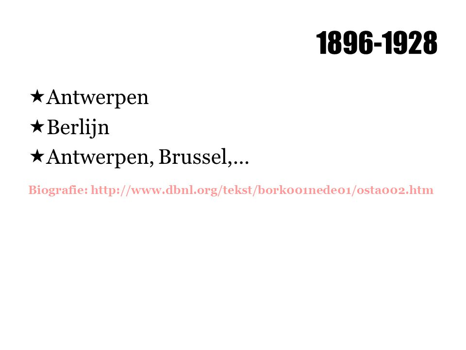 1896-1928 Antwerpen Berlijn Antwerpen, Brussel,…