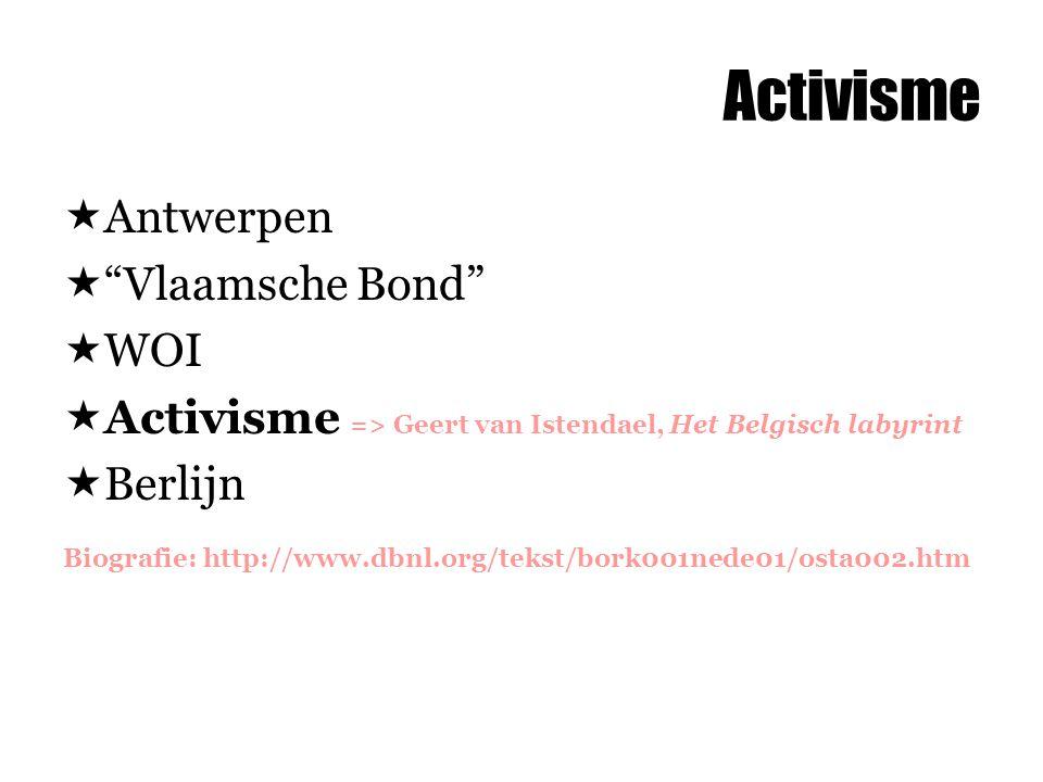 Activisme Antwerpen Vlaamsche Bond WOI