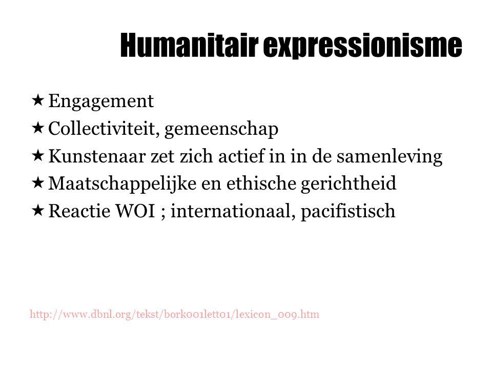Humanitair expressionisme
