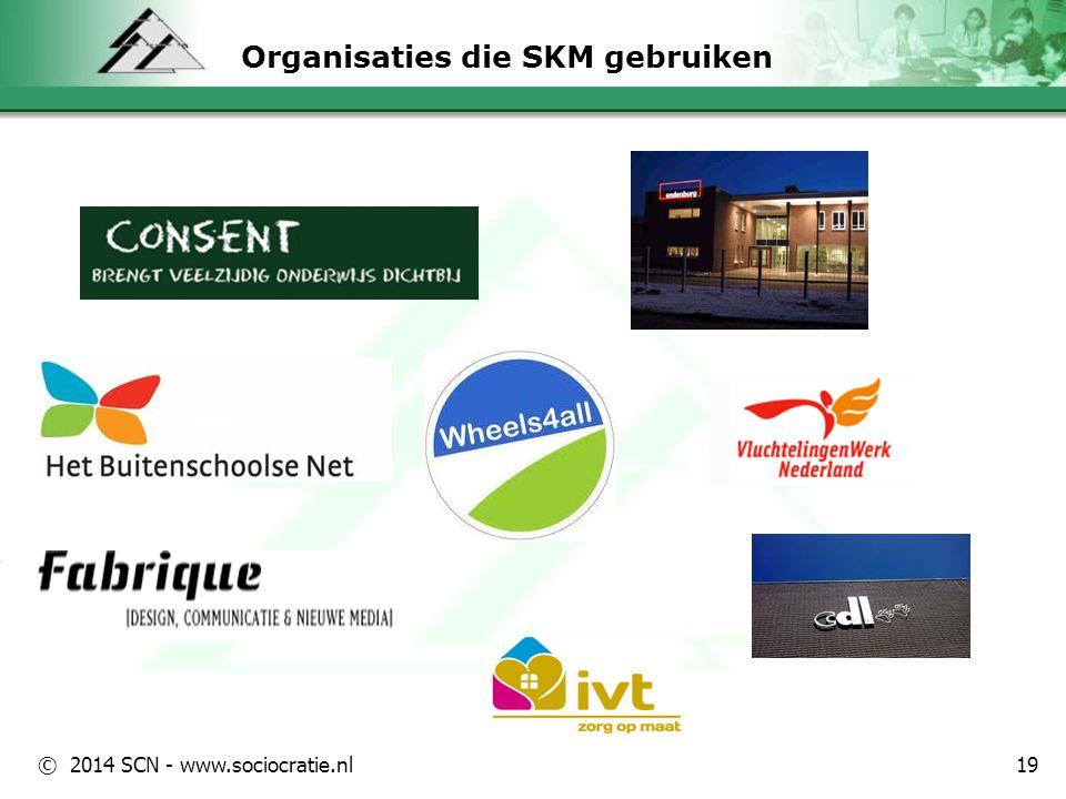 Organisaties die SKM gebruiken