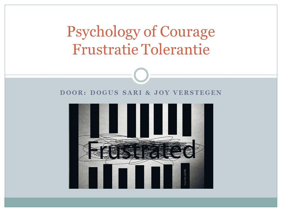 Psychology of Courage Frustratie Tolerantie
