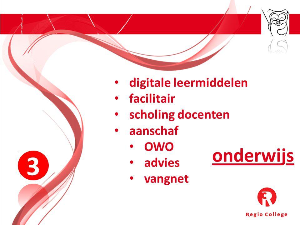 3 onderwijs digitale leermiddelen facilitair scholing docenten