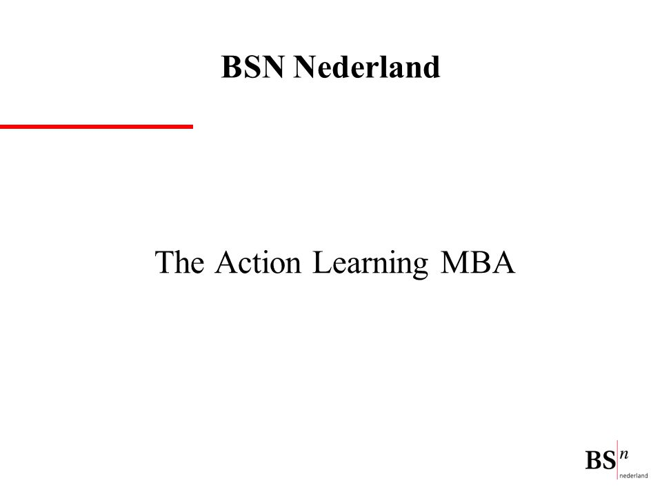 The Action Learning MBA