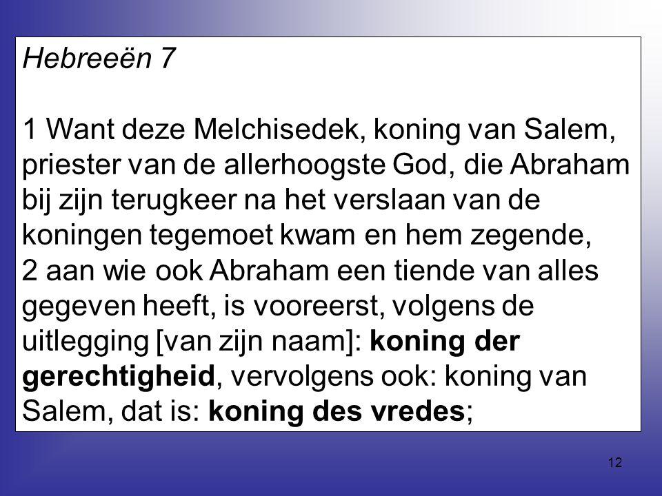 Hebreeën 7