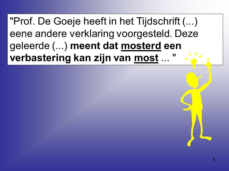 Prof. De Goeje heeft in het Tijdschrift (