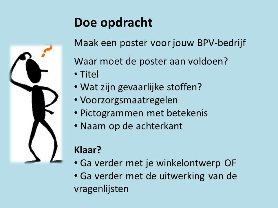 Doe opdracht Maak een poster voor jouw BPV-bedrijf