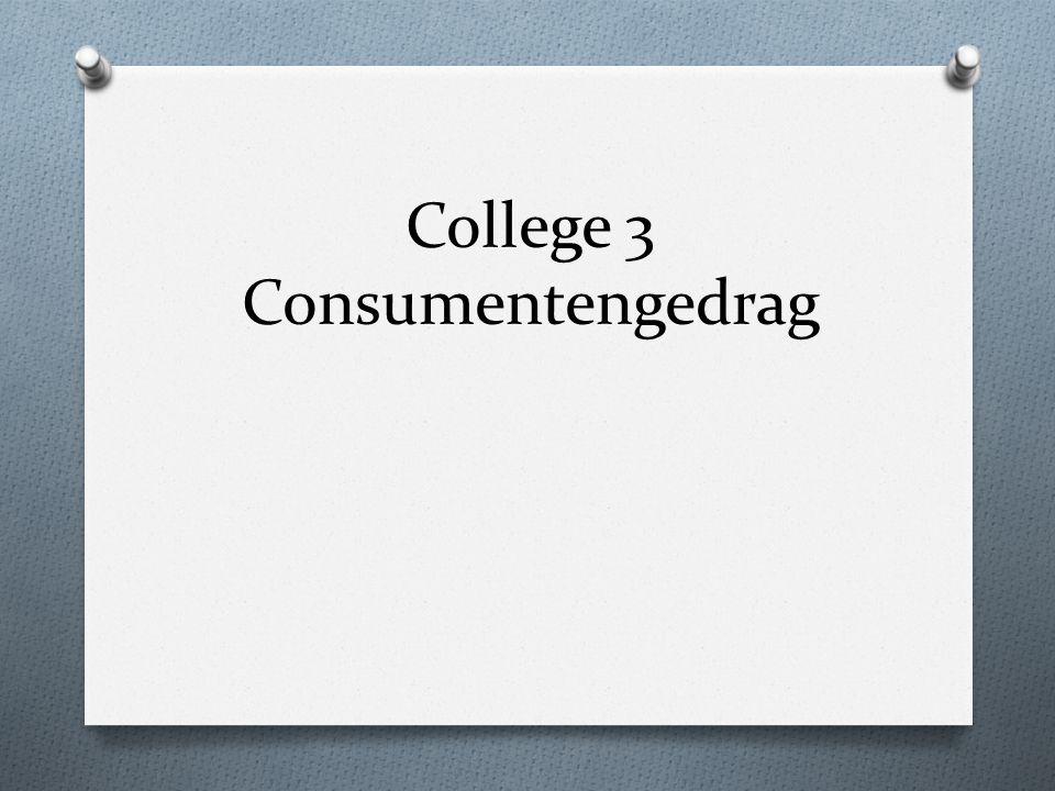 College 3 Consumentengedrag