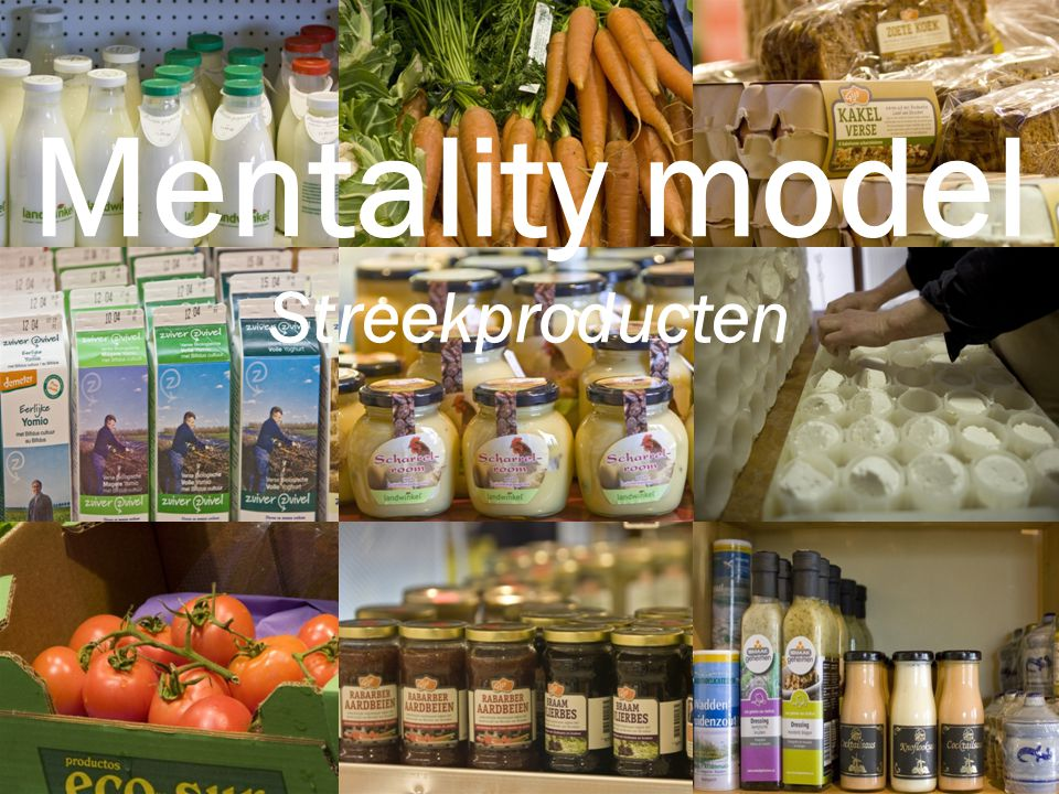 Mentality-model Streekproducten