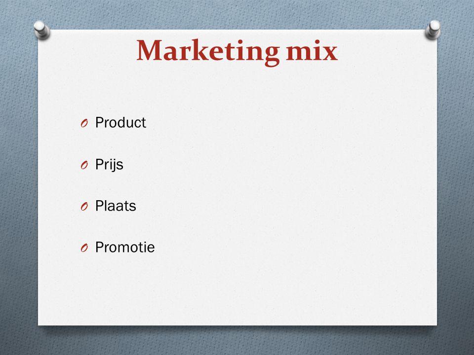 Marketing mix Product Prijs Plaats Promotie