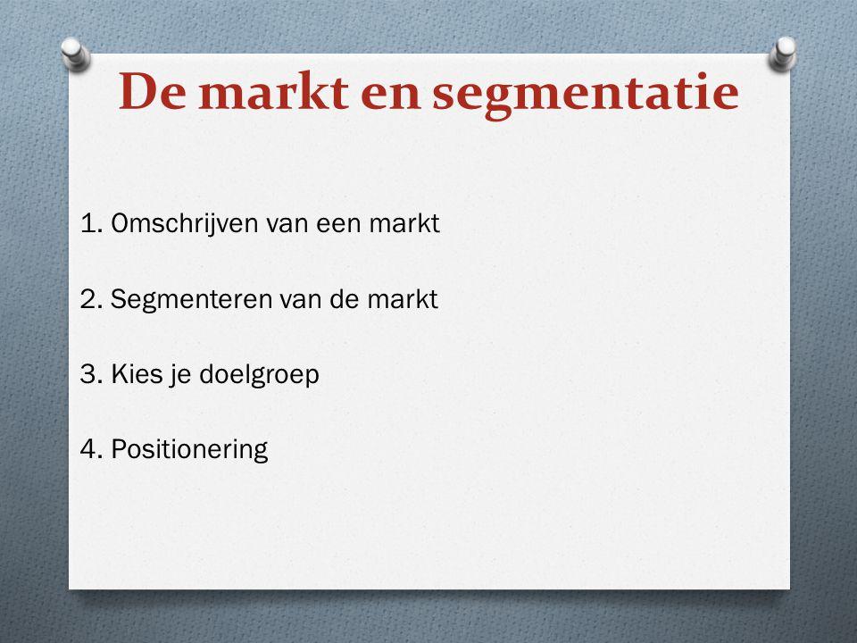 De markt en segmentatie