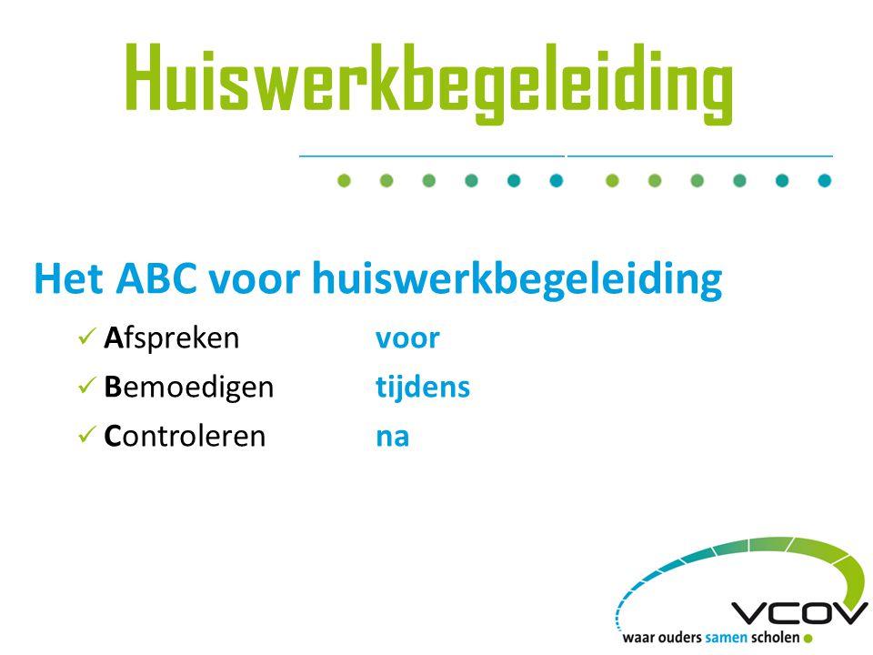 Huiswerkbegeleiding Het ABC voor huiswerkbegeleiding Afspreken voor