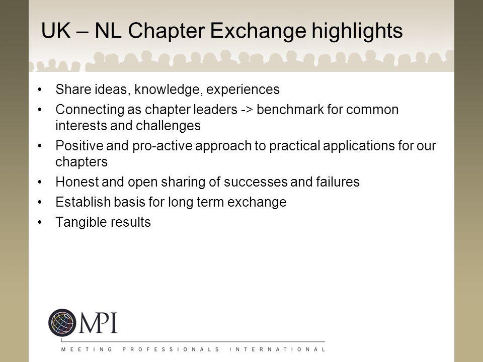 UK – NL Chapter Exchange highlights