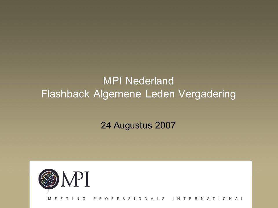 MPI Nederland Flashback Algemene Leden Vergadering