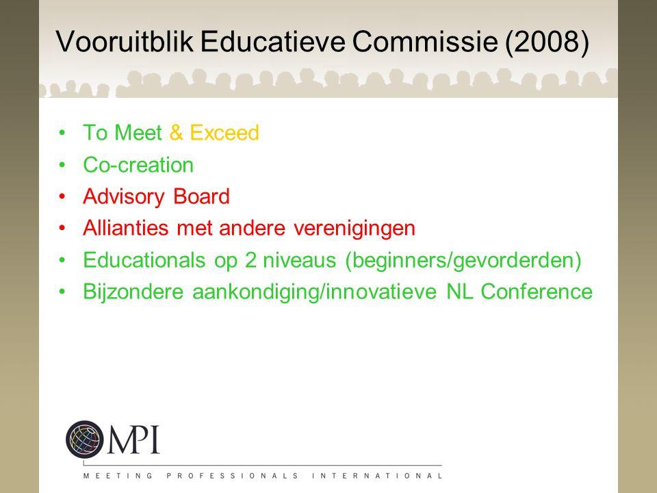 Vooruitblik Educatieve Commissie (2008)