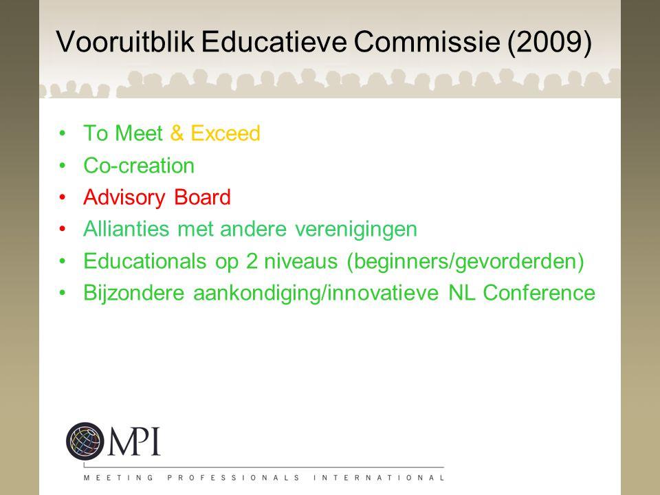 Vooruitblik Educatieve Commissie (2009)