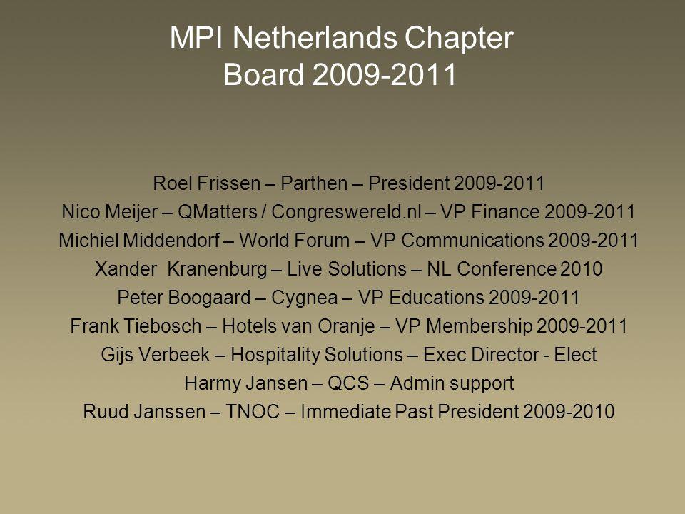 MPI Netherlands Chapter Board 2009-2011