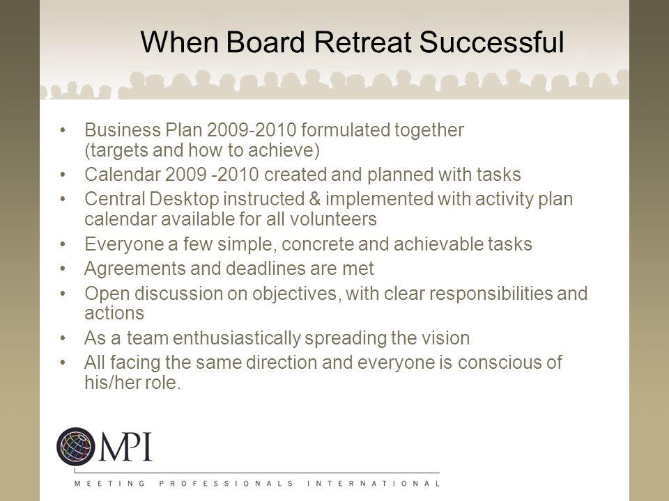 When Board Retreat Successful