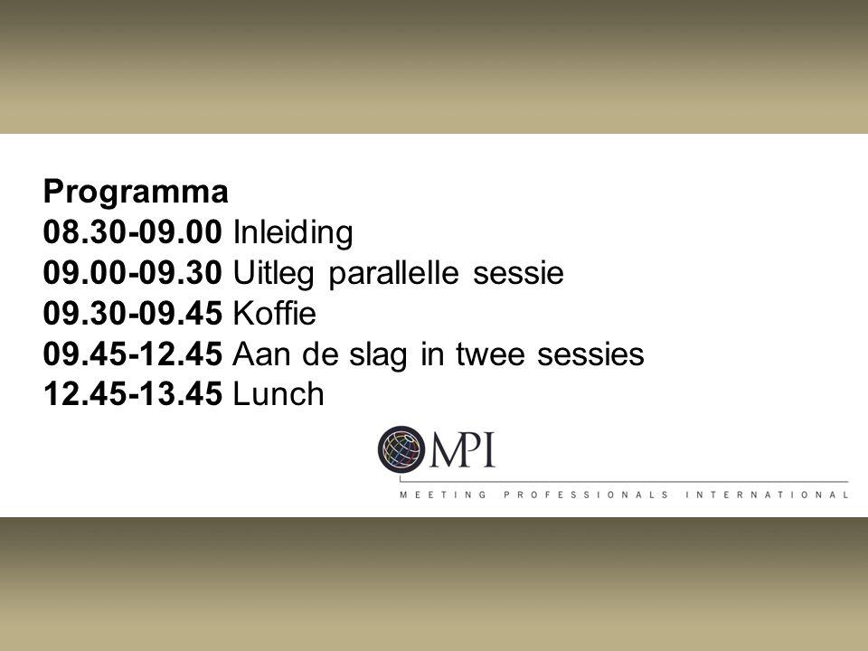 Programma 08. 30-09. 00 Inleiding 09. 00-09
